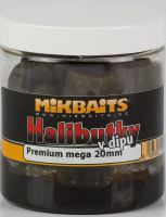 Mikbaits Chytací Halibutky  v dipu 20 mm 250 ml-Švestka Halibut