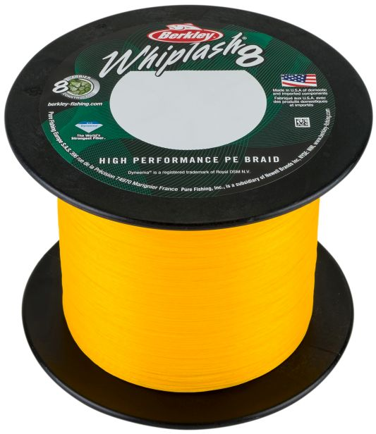 Berkley splétaná šňůra whiplash 8 yellow-průměr 0,25 mm / nosnost 39 kg