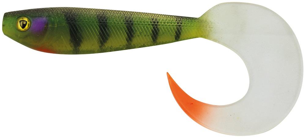 Fox rage gumová nástraha new pro grub colours uv stickleback-16 cm
