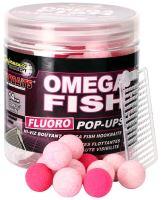 Starbaits Boilie Fluo Plovoucí Omega Fish-80 g - 14 mm