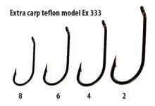 Extra carp háčky teflon série  EX 333   ( 10ks v balení)-Velikost 2