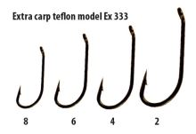 Extra carp háčky teflon série  EX 333   ( 10ks v balení)-Velikost 4
