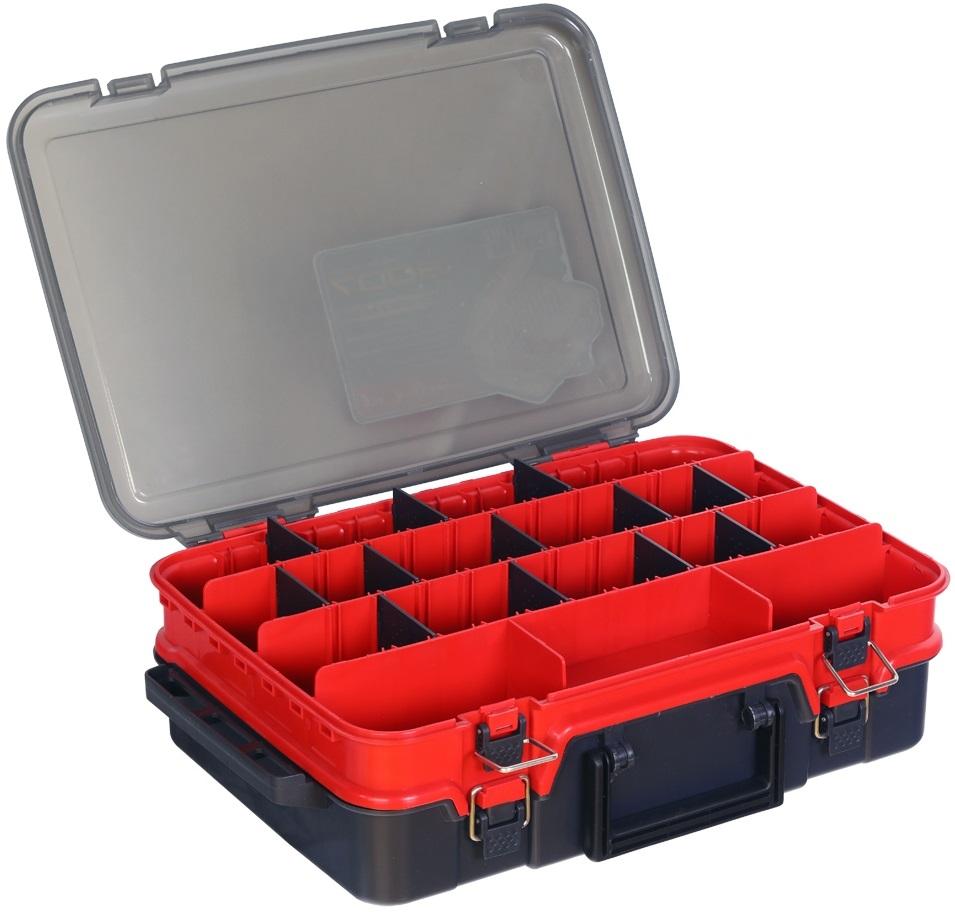 Hell-cat kufřík plastový tb double layer red-grey