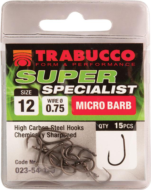 Trabucco háčky super specialist 15 ks-velikost 14