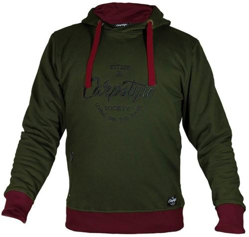Carpstyle Mikina Green Forest Hoodie