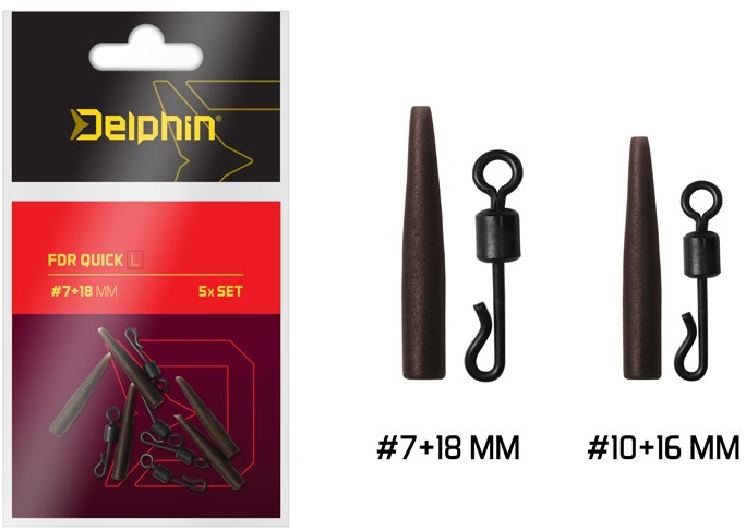 Delphin obratlík s převlekem fdr quick set 5 ks-velikost l 7