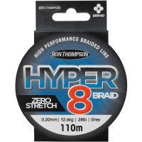 Ron Thompson Splétaná Šňůra Hyper 8 Braid Dark Grey 110 m-Průměr 0,13 mm / Nosnost 7,2 kg