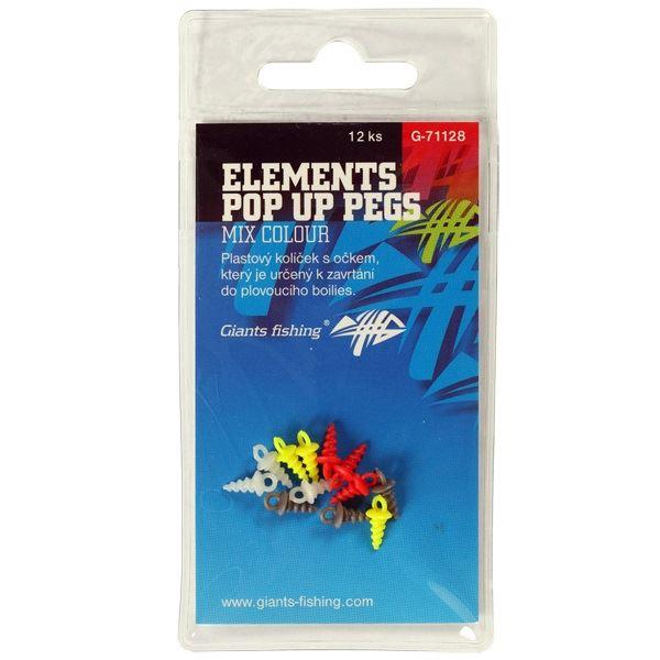Giants Fishing Kolíček S Očkem Elements Pop Up Pegs Mix Colour 12 ks