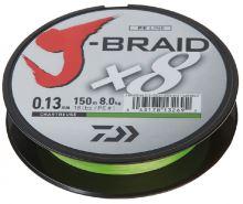 Daiwa Splétaná Šňůra J-Braid Chartreuse 150 m-Průměr 0,10 mm / Nosnost 6 kg