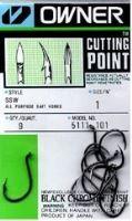 Owner  háček s očkem + cutting point  5111 Velikost 9/0