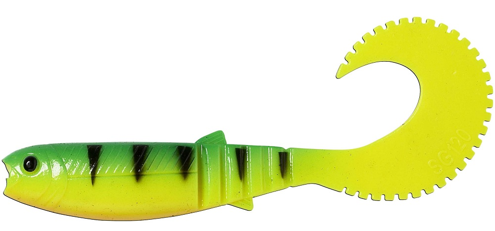 Savage gear gumová nástraha cannibal curl tail bulk firetiger-12,5 cm 10 g