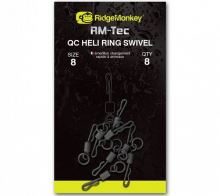 RidgeMonkey Rychlovýměnný bratlík s kroužkem Quick Change Heli Ring Swivel-velikost 8