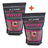 Jet Fish Boilie Mystery Jahoda Moruše 3 kg 24 mm 1+1 Zdarma