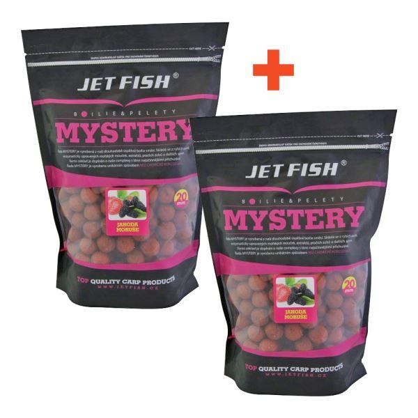 Jet Fish Boilie Mystery Jahoda Moruše 3 kg 1+1 Zdarma