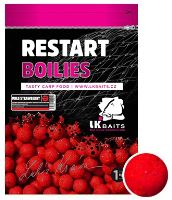 LK Baits Boilie ReStart Wild Strawberry-1 kg 14 mm