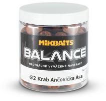 Mikbaits Boilie Gangster Balance G2 Krab Ančovička Asa 250 ml-20 mm