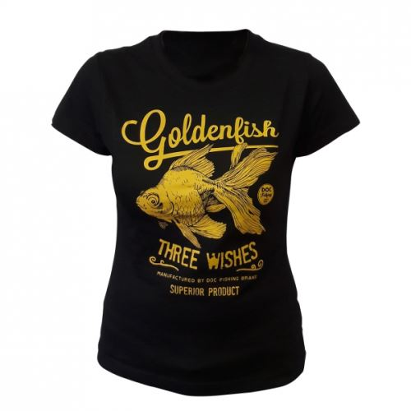Doc Fishing Triko Dámské Zlatá Rybka Černá
