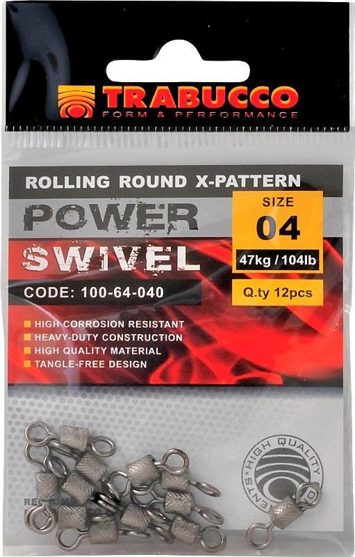 Trabucco obratlík pevnostní rolling round x-pattern 12 ks-vel.4