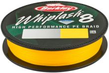 Berkley Splétaná Šňůra Whiplash 8 150 m Yellow-Průměr 0,08 mm / Nosnost 12,9 kg