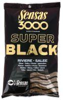 Sensas krmítková směs 3000 Dark Salty (Černé - slané) 1 kg-Riviere
