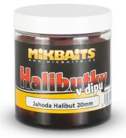 Mikbaits Pelety Halibutky v Dipu 20 mm 250 ml - Jahoda Halibut