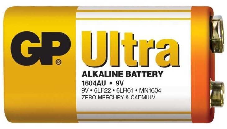 Gp batteries alkalická baterie gp ultra 6lf22 (9v) 1 ks