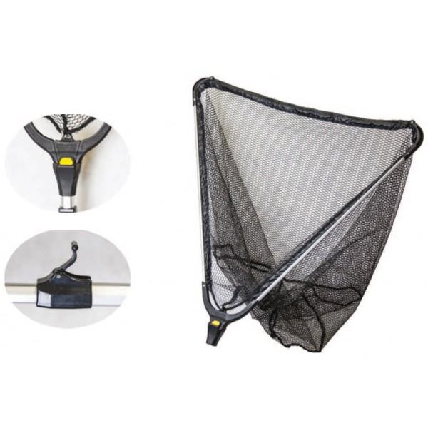 Mistrall podběrák s gumovou síťkou 2 díly-délka 2 m / rozměr 60x60 cm