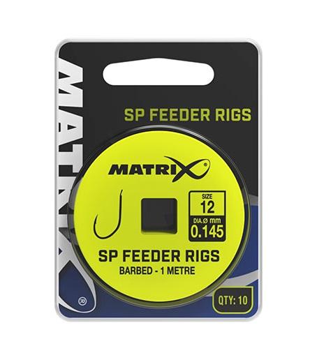 Matrix návazec sp feeder rigs 1 m 10 ks-velikost háčku 20