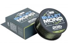 Nash Vlasec Bullet Mono Green 1000 m -Průměr 0,33 mm / Nosnost 12 lb