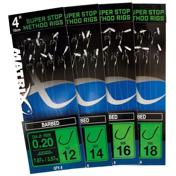 "Matrix Návazec 4"" Super Stop Method Rigs Barbed"