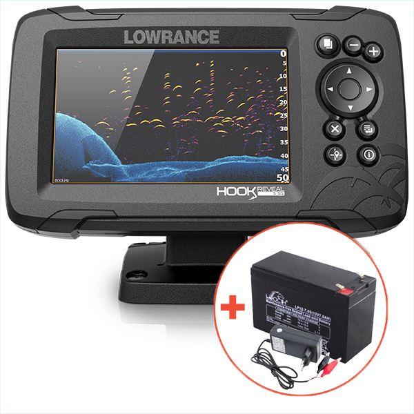 Lowrance Echolot Hook Reveal 5 Se Sondou HDI 83/200 KHZ