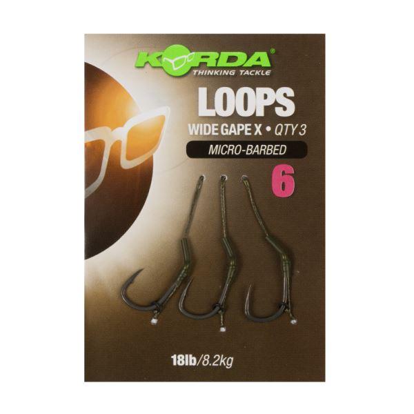 Korda Hotové Návazce Loop Rigs DF Wide Gape X Micro Barbed 8,2 kg