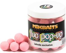 Mikbaits Plovoucí Boile Fluo 250 ml 18 mm-jahoda exclusive