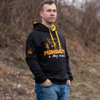 Mikbaits Mikina Fans team černá - Velikost XXXL