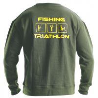 Doc Fishing Mikina Triathlon zelená-Velikost XXXL