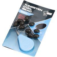 Nash Těžké Korálky Tungsten Oval Beads -6 mm