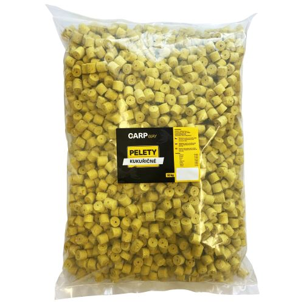Carpway Pelety Kukuřičné Žluté S Dírou 10 kg