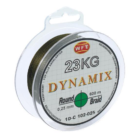 Wft splétaná šňůra round dynamix kg zelená - 150 m 0,25 mm 23 kg