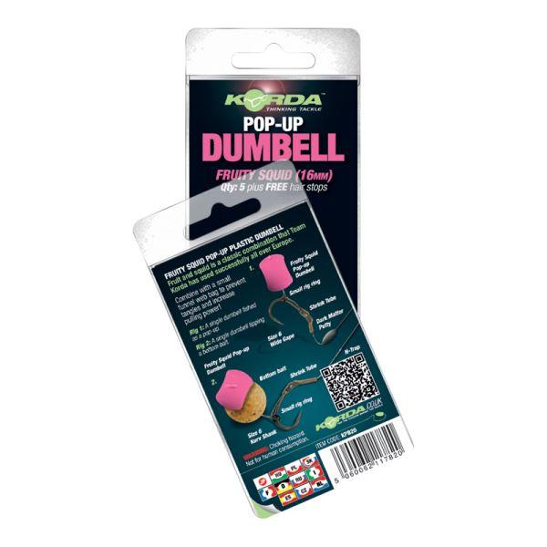 Korda Dumbell Pop-Up Fruity Squid Růžová Ovoce-Oliheň
