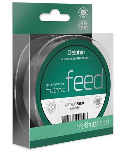 Delphin vlasec method feed šedá 5000 m-průměr 0,25 mm / nosnost 12,1 lb
