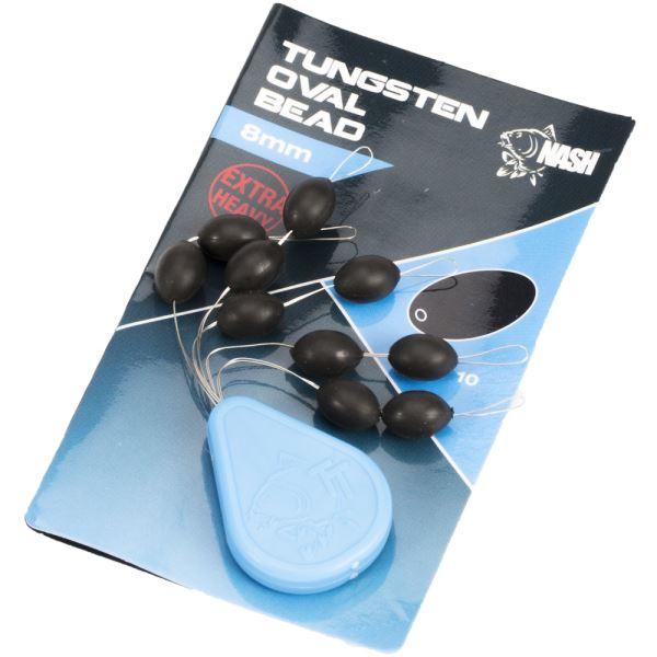 Nash Těžké Korálky Tungsten Oval Beads