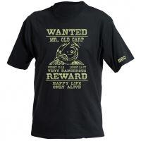Doc Fishing Triko Wanted Černá - XXXL
