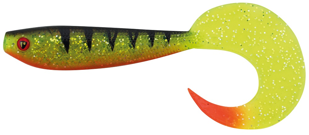 Fox rage gumová nástraha new pro grub colours uv perch-12 cm