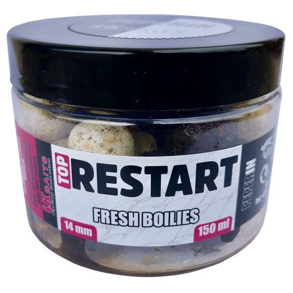 LK Baits Fresh Boilie Top Restart 14 mm 150 ml Peperin