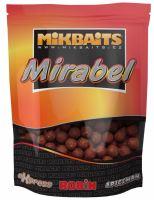 Mikbaits Boilie Mirabel 250 g 12 mm-Pikantní Švestka