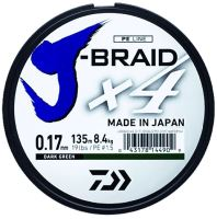 Daiwa Splétaná Šňůra J-Braid 4 Žlutá 135 m-Průměr 0,33 mm / Nosnost 22,4 kg