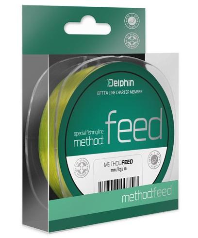 Delphin vlasec method feed fluo žlutá 5000 m-průměr 0,25 mm / nosnost 12,1 lb