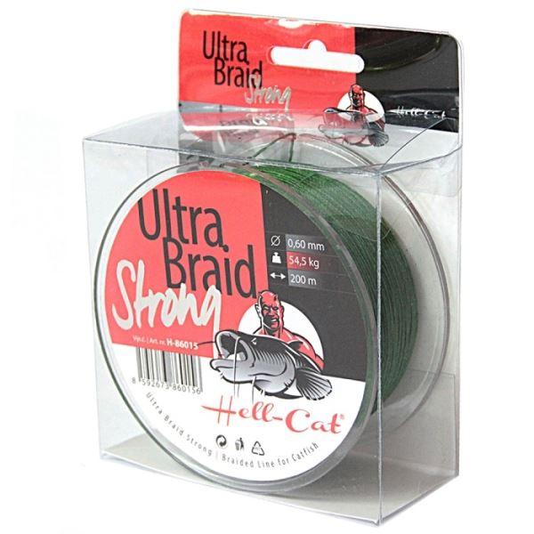Hell-Cat Splétaná Šňůra Ultra Braid Strong Zelená 250 m Průměr 0,48 mm / Nosnost 36,4 kg
