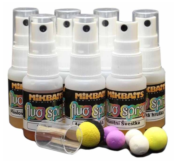 Mikbaits fluo spray 30 ml-česnek