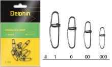 Delphin Karabinka Crosslock Snap C-03 10 ks-Velikost 00